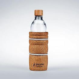 Lagoena bouteille 0,5 l et fleur de vie blanche, Ondes de Vie