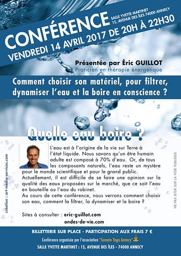 Conférence sur l'eau à Annecy 14 avril 2017