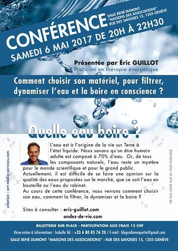 Conférence à Genève 6 mai 2017 à 20h, Ondes de Vie