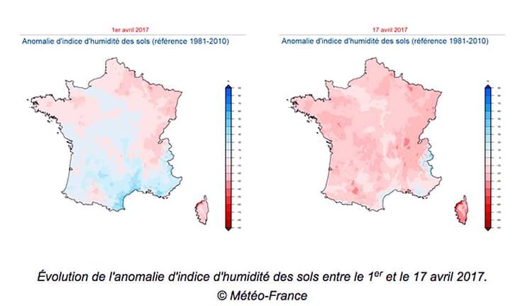 Indice d'humidité des sols